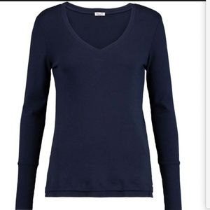 NWT Splendid Micro Modal & Cotton V Neck Sweater